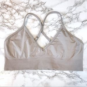 lululemon athletica Intimates & Sleepwear - LULULEMON Gray/Purple-Ish Sports Bra Unpadded